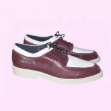 American Two Tone Burgundy Lizard & Cream
