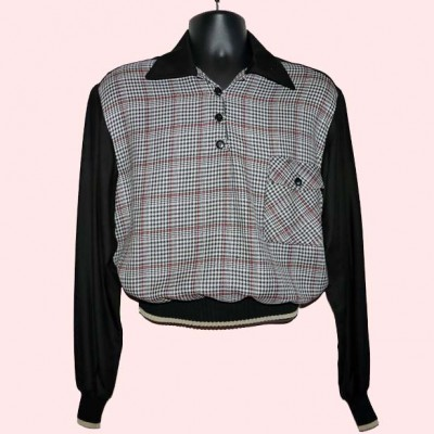 Gaucho Black with Black Check with red lines