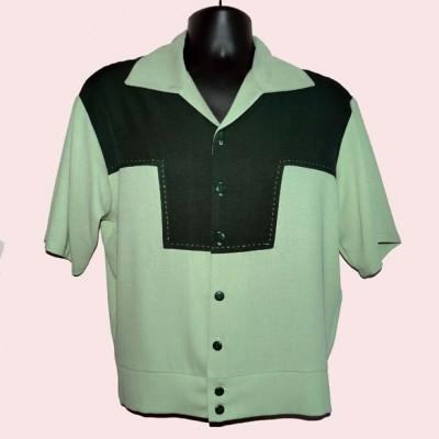Gaucho Short Sleeve Pistachio & Green Stitched