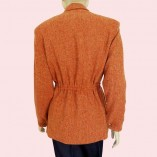 Ski Jacket Burnt Orange Herringbone back
