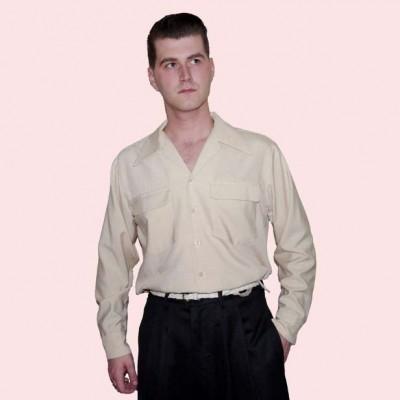 Gab Shirt Beige Fleck worn