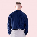 Gab Shirt Navy back
