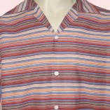 Short Sleeve Shirt Red Stripe close up