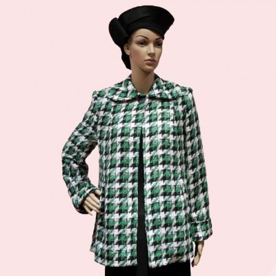 Swing Coat Green Check