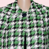 Swing Coat Green Check close up