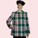 Swing Coat Pink & Green check
