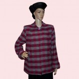 Swing Coat Red Check