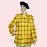 Swing Coat Yellow & Green check