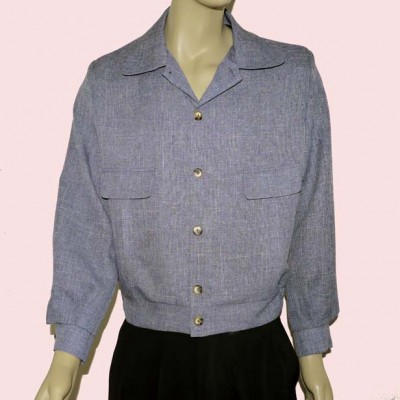 Gab Jacket Button Blue Fleck