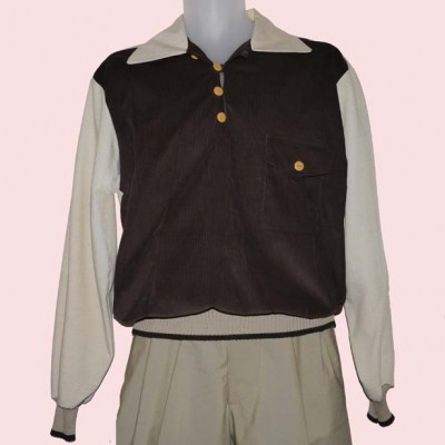 Gaucho Beige Fleck with Brown needle cord
