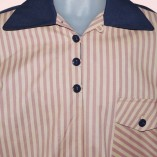 Gaucho Navy with Pink Stripe close up