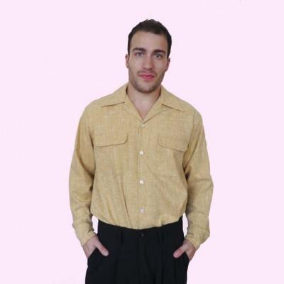 Gab Shirt Mustard Fleck1