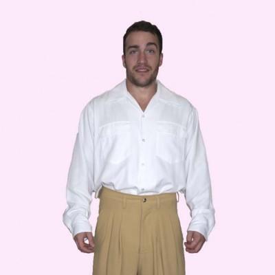 Gab Shirt White Fleck