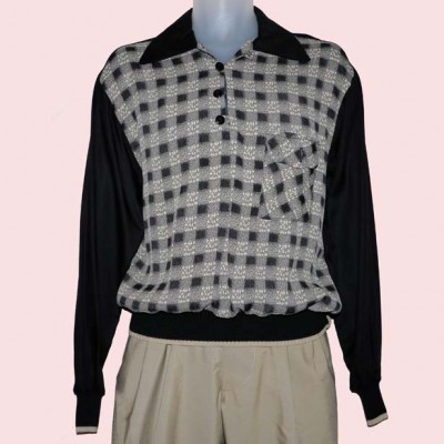 Gaucho Black with Black & Cream Check