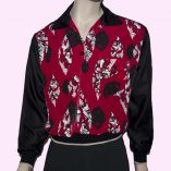Gaucho Black with Red Pattern