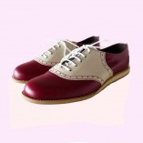 Saddle Shoe Cherry Red & Cream