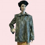 Swing Coat Leopard Print