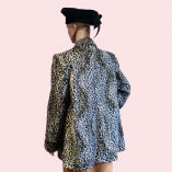 Swing Coat Leopard Print back