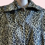 Swing Coat Leopard Print close up