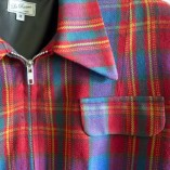 Gab Jacket Red & Blue Tartan