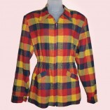 Ski Jacket Red Blue & Yellow check