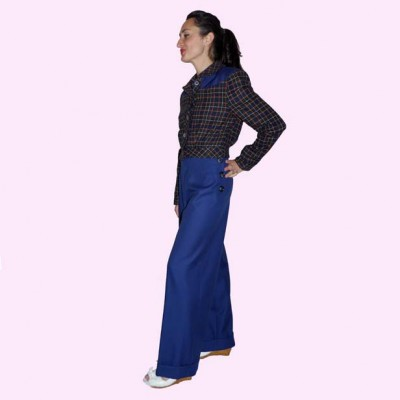 Womens Trousers French Navy