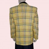 Box Jacket Yellow Check Back