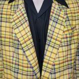 Box Jacket Yellow Check close up
