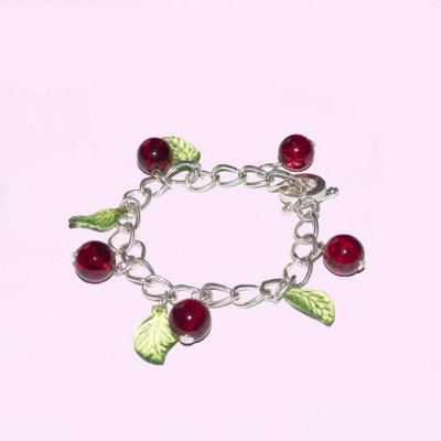 Cherry Glass Bracelet