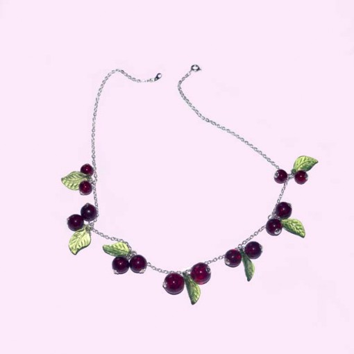 Cherry Glass Necklace