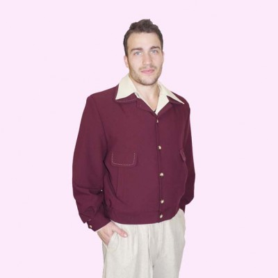 Gab Jacket Button Plum