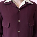 Gab Jacket Button Plum close up