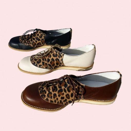 Leopard Print Saddle 3 colours side view
