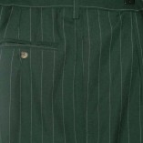 Mens Bags Green Pinstripe Bags close up