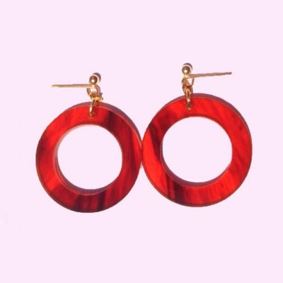 Reproduction Hoop Earrings Faux Tortoise Shell
