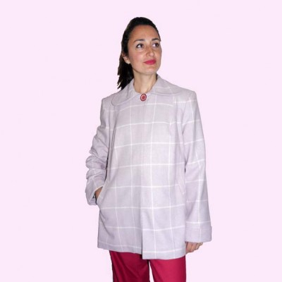 Swing Coat Pink Check