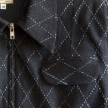 Gab Jacket Denim with Diamond Dark Blue Black close up