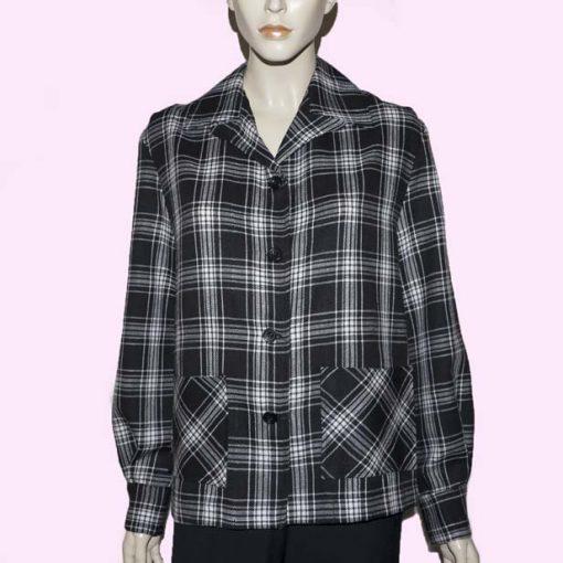 Womens Pendleton Black & White Check