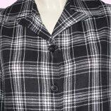 Womens Pendleton Black & White Check close