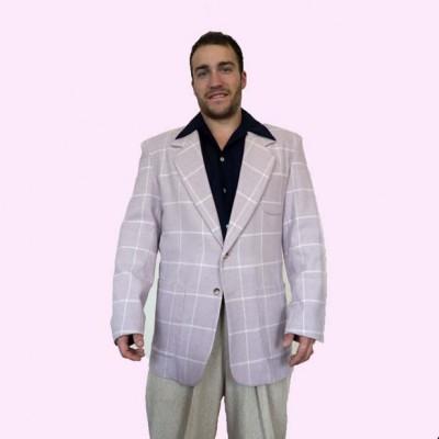 Box Jacket Pale Pink & White Check
