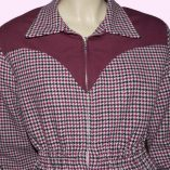 Ski Two Tone Mulberry Houndstooth & Mulberry top