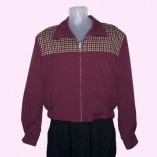 Gab Jacket Two Tone Mulberry & Maroon Check