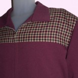 Gab Jacket Two Tone Mulberry & Maroon Check close up