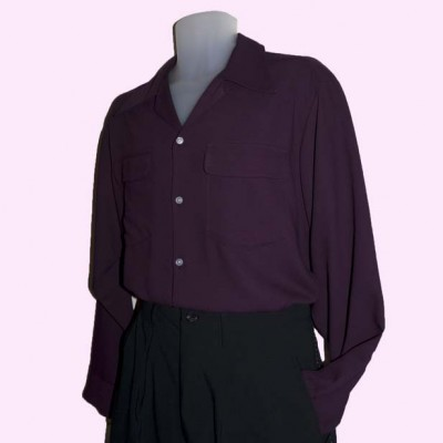 Gab Shirt Plum Side