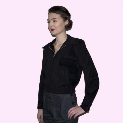 Gab Jacket Black Cord