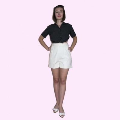 White Shorts Front