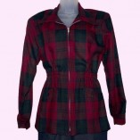 Ski Jacket Red & Dark Green Check