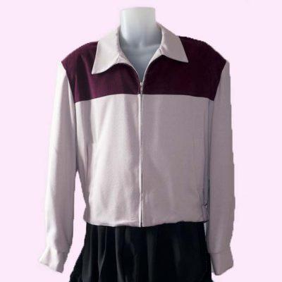 Gab Jacket Two Tone Pink & Plum cord