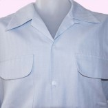 Gab Shirt Ice Blue Close up
