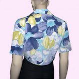 Blue Floral Tie Top back